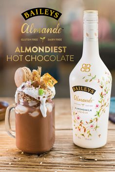 What's more delectable than hot chocolate? A dairy free hot chocolate made with a splash of Baileys Almande.  Mix 2 oz Baileys Almande, 1 tbsp cocoa, and 1 cup hot almond milk. Top with the sweet treat of your choice. Enjoy!