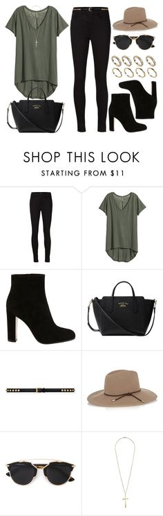 """""""Style #9897"""" by vany-alvarado ❤ liked on Polyvore featuring moda, J Brand, H&M, Gianvito Rossi, Gucci, Yves Saint Laurent, Emilio Pucci, Christian Dior, Topshop y ALDO"""