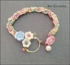 Turkish crochet bracelet with candy beads.. #Turkish crochet #beaded #bracelet