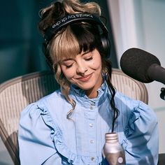 melanie at an interview today with 💕 { Mel Martinez, Crybaby Melanie Martinez, Melanie Martinez Music, Adele, Cry Baby, Melanie Martinez Canciones, Melanie Martinez Pictures, Billie Eilish, Crazy People
