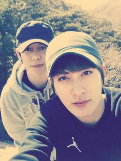 """Kyung & Jaehyo. To think Kyung hated Jaehyo for being the """"ultimate ulzzang"""" and Jaehyo hated Kyung for looking like a cucumber ^^"""