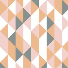 Peach, coral & Grey fabric