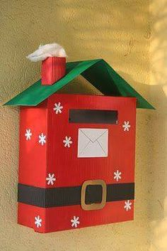 letters to Santa mailbox Preschool Christmas, Christmas Crafts For Kids, Christmas Activities, Craft Activities, Christmas Projects, Holiday Crafts, Christmas Decorations, Christmas Ornaments, Office Christmas