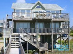 Vacation Rental Topsail Beach-S. Anderson Area & Oceanfront | BARKER COTTAGE