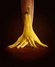 A series of hand paintings by Ray Massey and Annie Ralli where they cleverly blend the real world and painting of just the hand