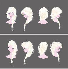 Frozen concept art | Illustrator: Brittney Lee