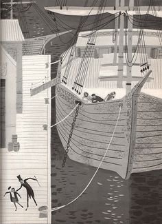 Jules Verne: The Man Who Invented the Future by Franz Born illustrated by Peter P. Plasencia ©1964 Prentice-Hall, Inc.