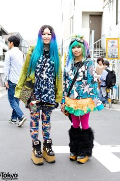 Colorful Harajuku Girls