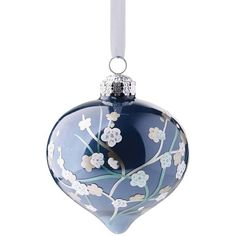 French Blue and Linen 60-pc. Ornament Collection ❤ liked on Polyvore featuring home and home decor