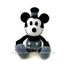Classic Disney Mickey Mouse Amigurumi Pattern (E-book in PDF format). $2.99, via Etsy..