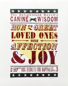 Canine Wisdom Original Print for Dog by TheEnlightenedHound