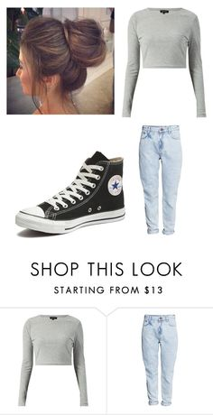 """""""Untitled #9996"""" by iamdreamchaser ❤ liked on Polyvore featuring H&M, Converse, women's clothing, women, female, woman, misses and juniors"""