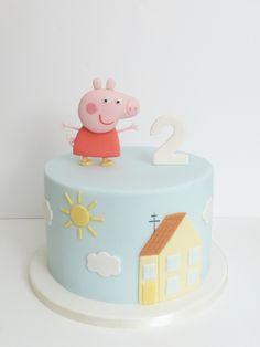 Peaceofcake ♥ Sweet Design: Peppa Pig Cake • Bolo Porquinha Peppa