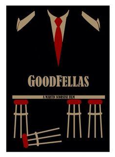 Goodfellas (1990) ~ Minimal Movie Poster by David Peacock Minimal Movie Posters, Cinema Posters, Great Films, Good Movies, Mafia, Goodfellas 1990, Movie Poster Art, Print Poster, Movie Collage