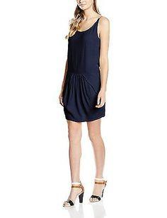 UK 10, Blue - Bleu (Navy), See u soon Women's 6121033 Dress NEW