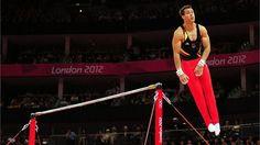 Australia's Lauren Mitchell performs on the beam