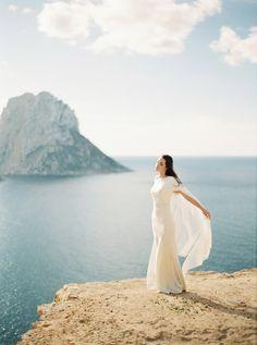 Umm holy smokes! Perfection!  Ethereal Rose Quartz Bridal Inspiration in Ibiza by Oliver Fly Photography | Wedding Sparrow | fine art wedding blog