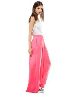 pink palazzo pants / bershka, 25eur