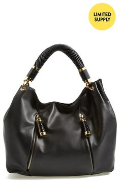 Michael Kors 'Tonne' Leather Hobo available at #Nordstrom