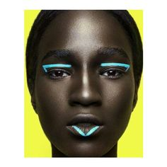 Melanin x Color This Stunning Photo Series Sets Bright Makeup Against... ❤ liked on Polyvore featuring beauty products