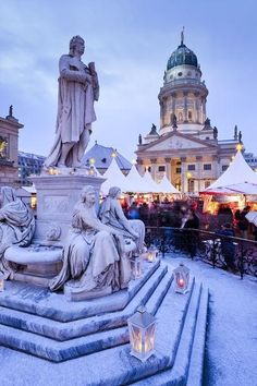 The Gendarmenmarkt Christmas Market in Berlin, Germany