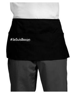 TooLoud Hashtag JeSuisBacon Dark Adult Mini Waist Apron