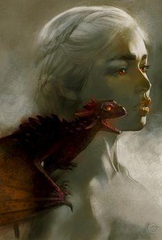 Emilia Clarke's Daenerys Targaryen from Game of Thrones by Massimo Carnevale