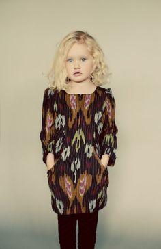 Sunki Dress - modern girls dress with pockets digital sewing pattern