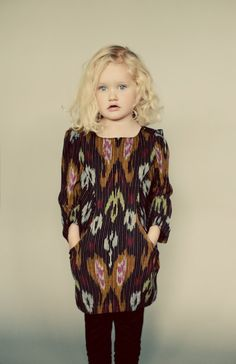 Sunki Dress - modern girls dress with pockets digital sewing pattern