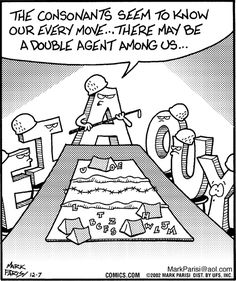 Language Humor ~ 'Off the Mark' by Mark Parisi Nerd Jokes, Nerd Humor, Lame Jokes, Funny Quotes, Funny Memes, Hilarious, Grammar Jokes, Chemistry Jokes, Science Jokes