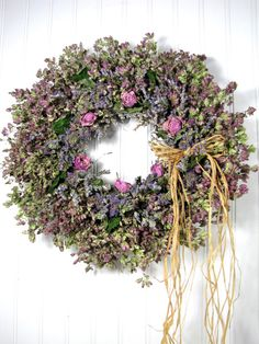Herb Wreath, Dried Floral Wreath, Wreaths, Herbal Wreath Dried Herb Wreath Dried Floral Wreath by summersweetboutiqueDried Herb Wreath Dried Floral Wreath by summersweetboutique Dried Flower Wreaths, Vine Wreath, Wreaths And Garlands, Frame Wreath, Dried Flowers, Burlap Wreaths, Botanical Decor, Dried Flower Arrangements, Drying Herbs