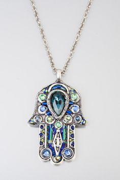Arabic lucky talisman Chamsa  Pewter Chamsa by NoyJewelry on Etsy, $70.00