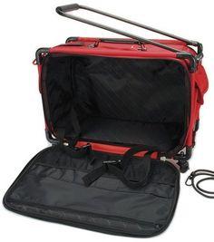 TUTTO Machine On Wheels Case 21''L' - Cherry Red