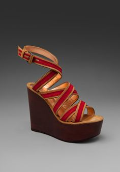 Marc by Marc & I can't resist a good red sandal for summer.