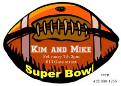 Football and Super Bowl Party Invitations 2016