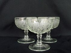 Iris and Herringbone by Jeannette Glass 3 Tall Footed by catiques, $19.50