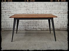 This retro Danish kitchen table has distinct vintage industrial feel and looks fantastic in any cafe or home. This mid sized Tolix table seats six hungry housemates and is a great mid sized table.
