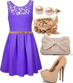 """purple dress"" by mstinso5 on Polyvore"