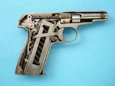 Remington 51 pistol cutaway