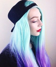Galaxy hair is one of the wildest winter hair trends. We are in awe of this pastel hair color, a dip-dyed take on galaxy hair. Brown Ombre Hair, Purple Hair, Blue Ombre, Pastel Blue, Frontal Hairstyles, Afro Hairstyles, Ombre Hair Color, Cool Hair Color, Hair Colors