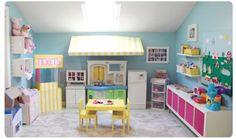 cartoon play rooms | An Amazing DIY Playroom
