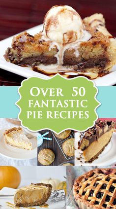 Over 50 Fantastic Pie Recipes at Love From The Oven.  Get ready for fall!
