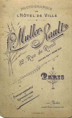 MULLER & RAULT (3) Photographie de l'Hôtel de Ville - Paris