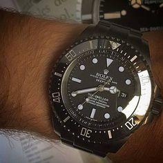 Titan Black Deepsea Sea Dweller Super matte grey dial with black&white accents