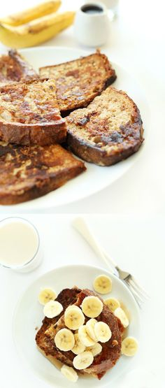 5 Ingredient Vegan Banana French Toast!
