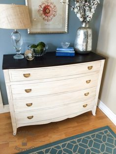 LOVE this dresser makeover by Ashley at A Timeless Classic — Vintage Refined.