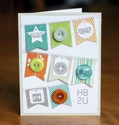 A banner birthday card perfect for boys, (can be adaptable to...)
