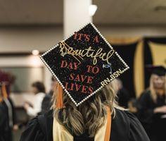 Graduation cap design for nursing school!! #graduationcap #nursingschool #RN #BSN  #greysanatomyquotes