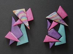 Claire Fairweather - polymer clay artist, designer and tutor: Two different methods for creating the same brooch design