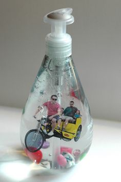 Pictures floating in soap.  So cool!  And would make awesome gifts.